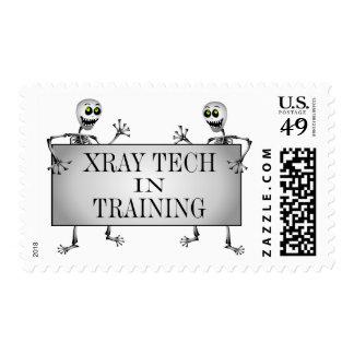 Radiografía en el entrenamiento estampillas