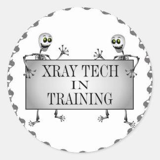 Radiografía en el entrenamiento pegatinas