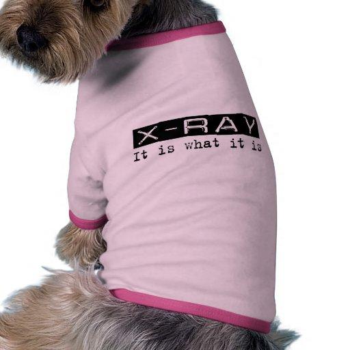 Radiografía es camisetas de perro
