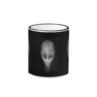 Radiografía extranjera del cráneo taza a dos colores