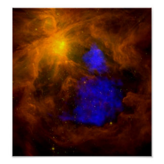 Radiografía Papá Noel de NASAs en Orión Póster