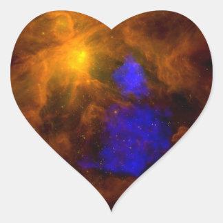 Radiografía Papá Noel de NASAs en Orión Pegatina En Forma De Corazón
