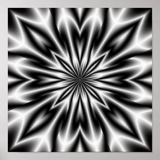 Radiografía psicodélica de la flor póster