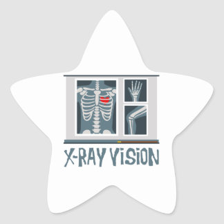 Radiografía Vision Pegatina En Forma De Estrella