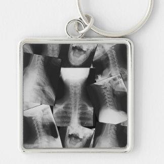 Radiografiado Llavero Cuadrado Plateado