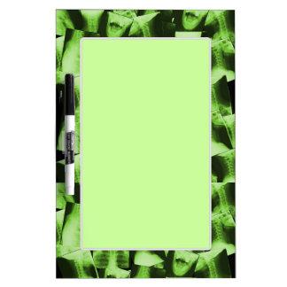 Radiografiado - verde radiactivo tableros blancos