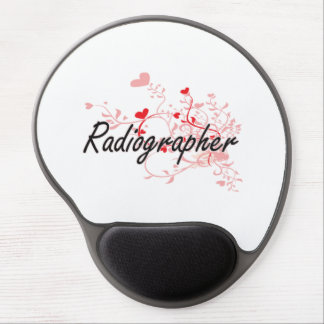 Radiographer Artistic Job Design with Hearts Gel Mouse Pad