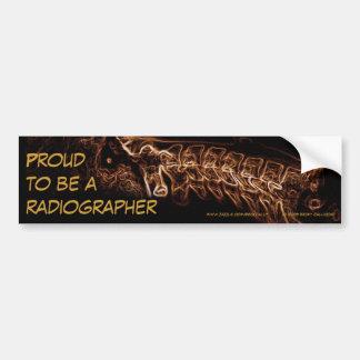 Radiographer bumper sticker (brown c-spine)