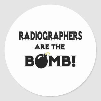 Radiographers Are The Bomb! Classic Round Sticker