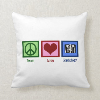 Radiología del amor de la paz cojin