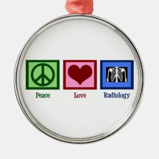 Radiología del amor de la paz ornamentos para reyes magos