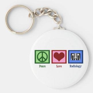 Radiología del amor de la paz llavero personalizado