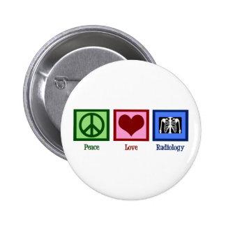 Radiología del amor de la paz pins