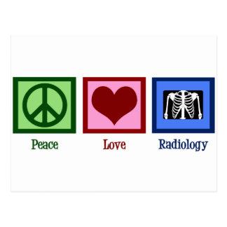 Radiología del amor de la paz postal