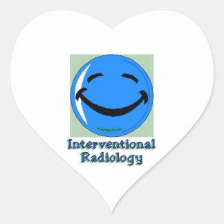 Radiología del HF Interventional Pegatina En Forma De Corazón