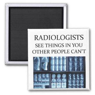 Radiología del radiólogo imán cuadrado