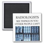 Radiología del radiólogo iman de frigorífico