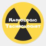Radiología Etiqueta Redonda