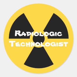 Radiología Pegatina Redonda
