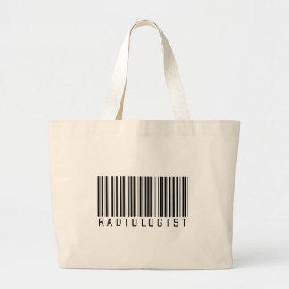 Radiologist Bar Code Canvas Bags
