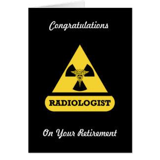 Radiologist Custom Retirement Card