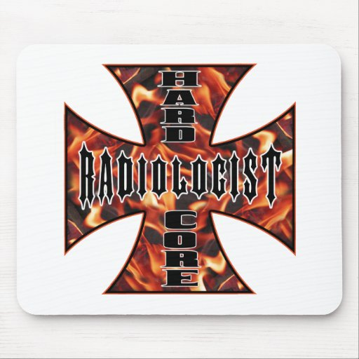 Radiologist Hard Core Mouse Pads