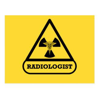 Radiologist Shield Postcard