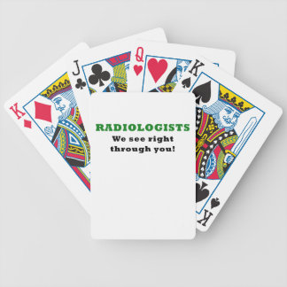 Radiologists We See Right Through You Bicycle Playing Cards