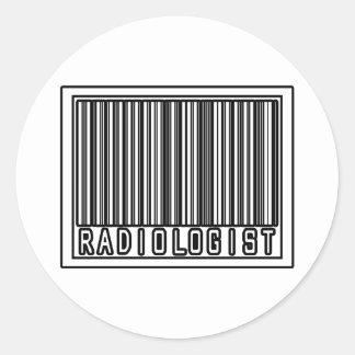 Radiólogo del código de barras pegatina redonda