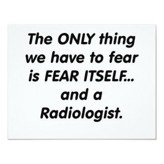 radiólogo del miedo invitaciones personalizada