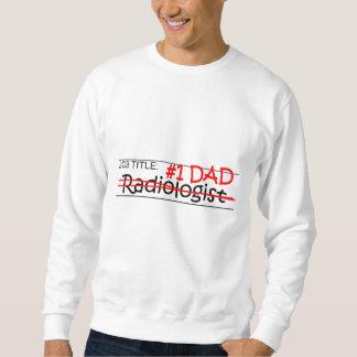 Radiólogo del papá del trabajo sudaderas encapuchadas