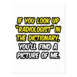 Radiólogo en diccionario… mi imagen postal