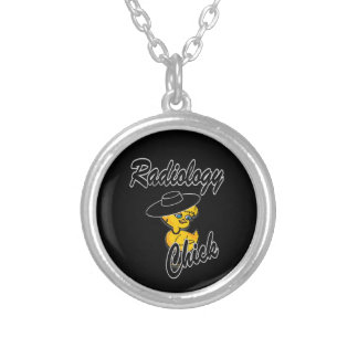 Radiology Chick #4 Round Pendant Necklace