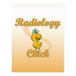 Radiology Chick Postcard