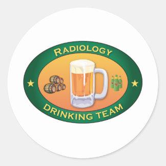 Radiology Drinking Team Classic Round Sticker