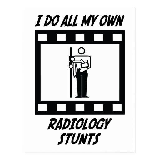 Radiology Stunts Post Card