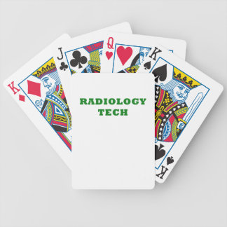 Radiology Tech Bicycle Playing Cards