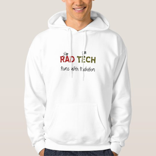 "Radiology Tech Hoodie ""Runs With Radiation"""