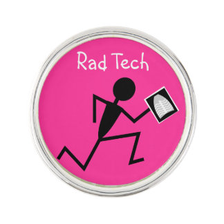 Radiology Tech Lapel Pin Pink