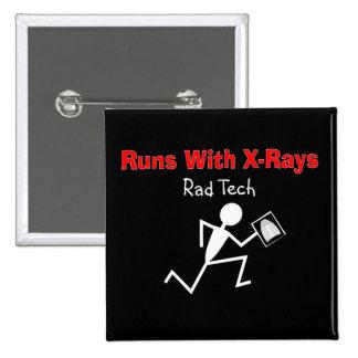 Radiology Technician Rad Tech Buttons