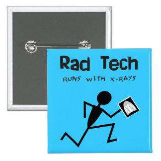 Radiology Technician Rad Tech Buttons Blue