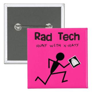 Radiology Technician Rad Tech Buttons Pink