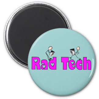 """Radiology Technician """"Rad Tech"""" Gifts 2 Inch Round Magnet"""