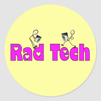 "Radiology Technician ""Rad Tech"" Gifts Classic Round Sticker"