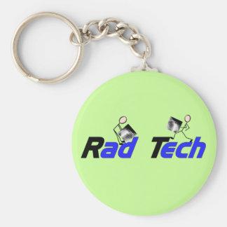 "Radiology Technician ""Rad Tech"" Gifts Basic Round Button Keychain"