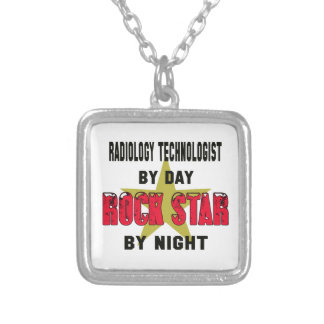 Radiology Technologist by Day rockstar by night Square Pendant Necklace