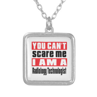 Radiology Technologist scare designs Square Pendant Necklace