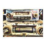 Radios de coche del vintage lienzo envuelto para galerías