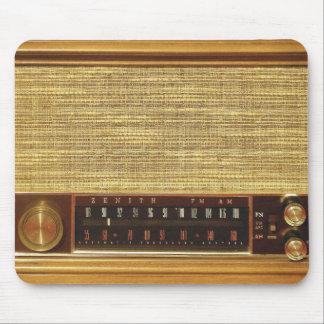 Radios del vintage en madera tapete de raton