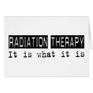 Radioterapia es felicitacion